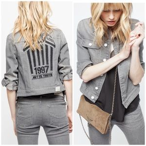 Zadig & Voltaire art is truth grey denim jacket M